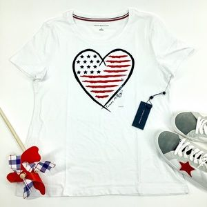 TOMMY HILFIGER STARS AND STRIPES HEART TEE